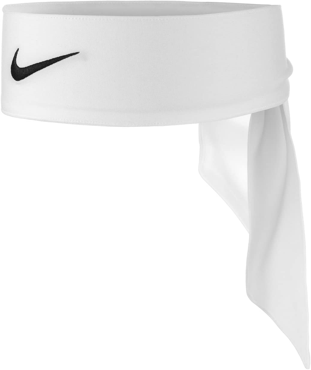Nike Unisex Dri-Fit Head Tie 2.0 White/Black One Size: Sports & Outdoors