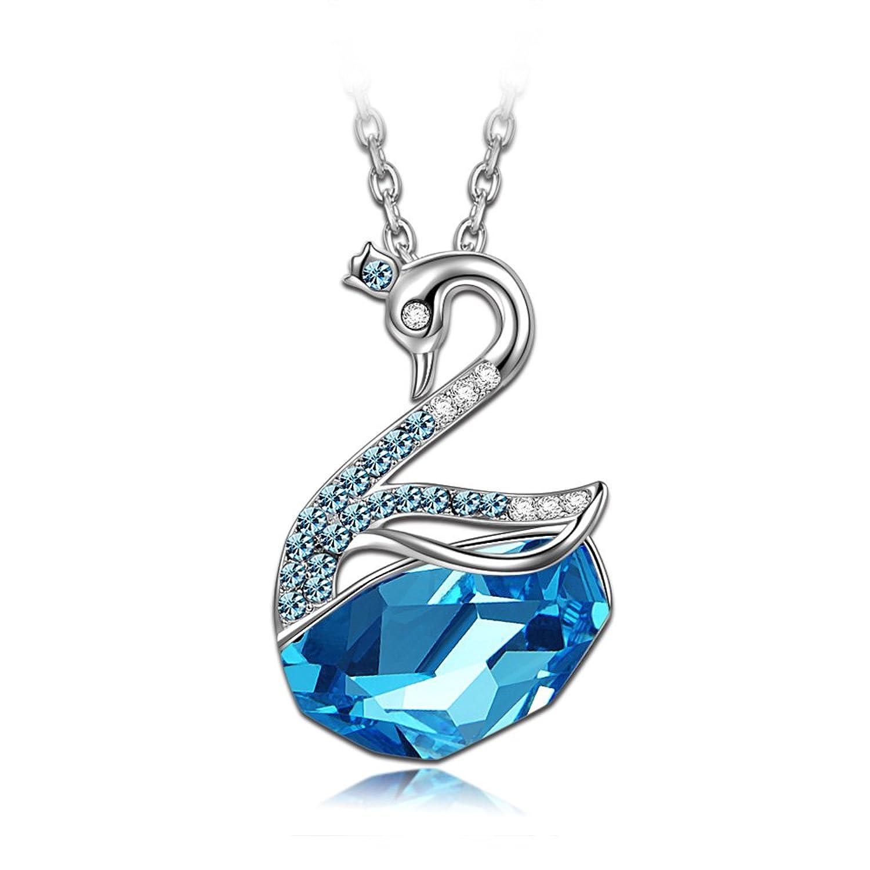 LADY COLOUR Princesa Cisne Collar mujer con cristales de SWAROVSKI® la coleccion