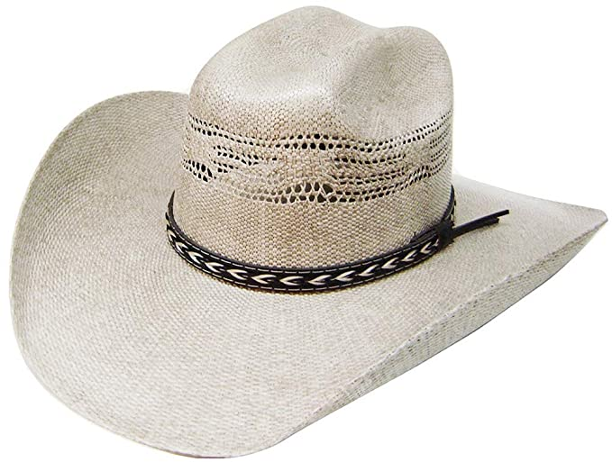 Modestone Traditional Bangora Rodeo Straw Sombrero Vaquero Beige  Amazon.es   Ropa y accesorios 20eed285275