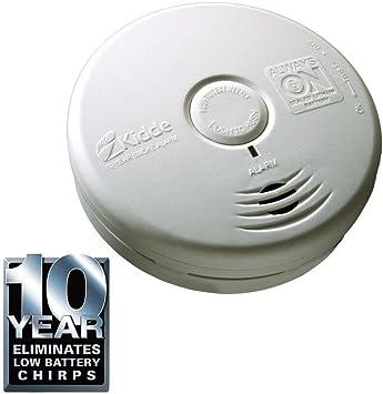 Kiddie 10-Year Sealed Battery Smoke Detector Ionization Sensor Home Security 2Pk
