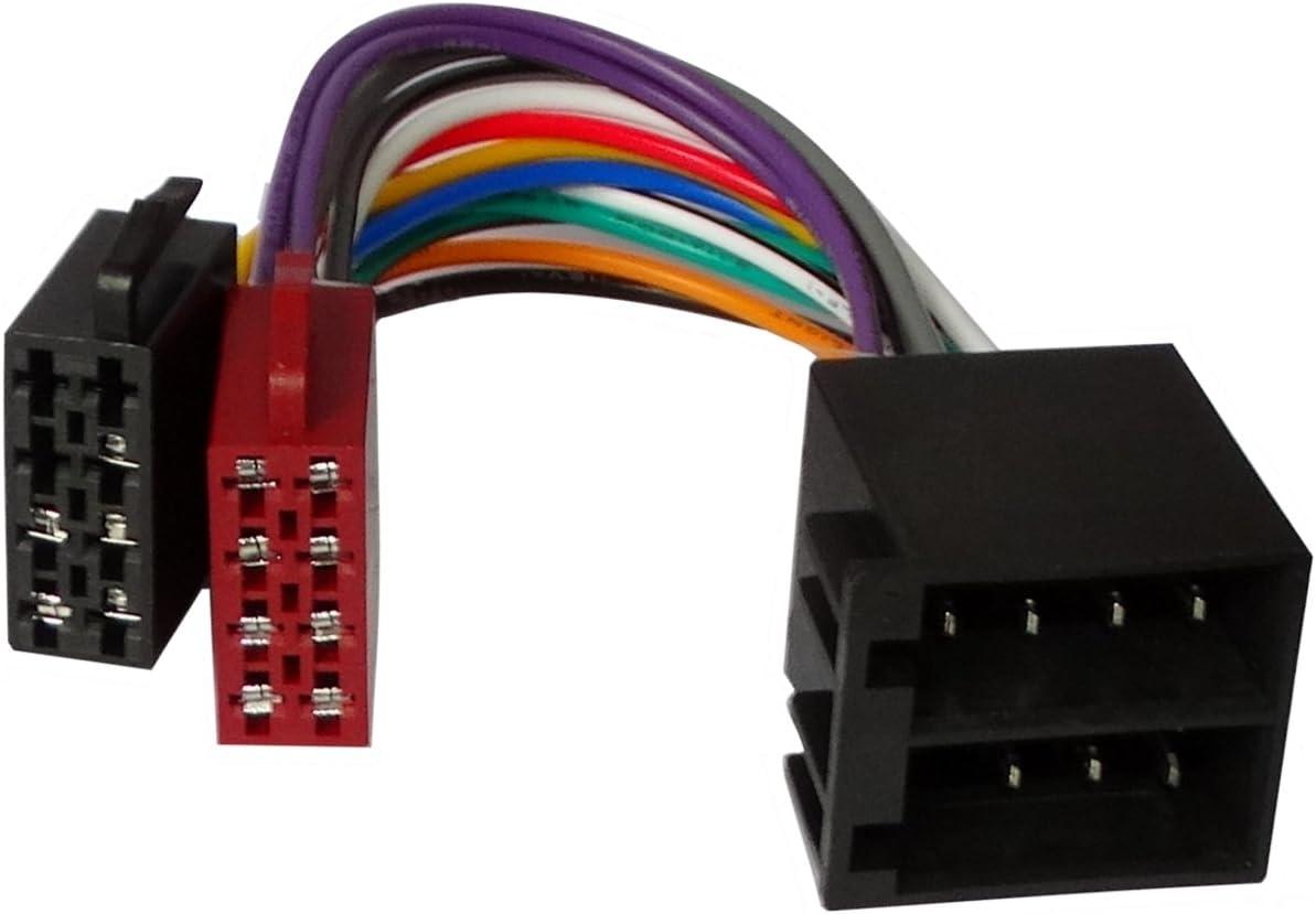 Spina ISO prolunga 20 cm connettore precablata fascio maschio femmina universale 13 pin 8 suono per altoparlanti . Aerzetix 5 alimentazione