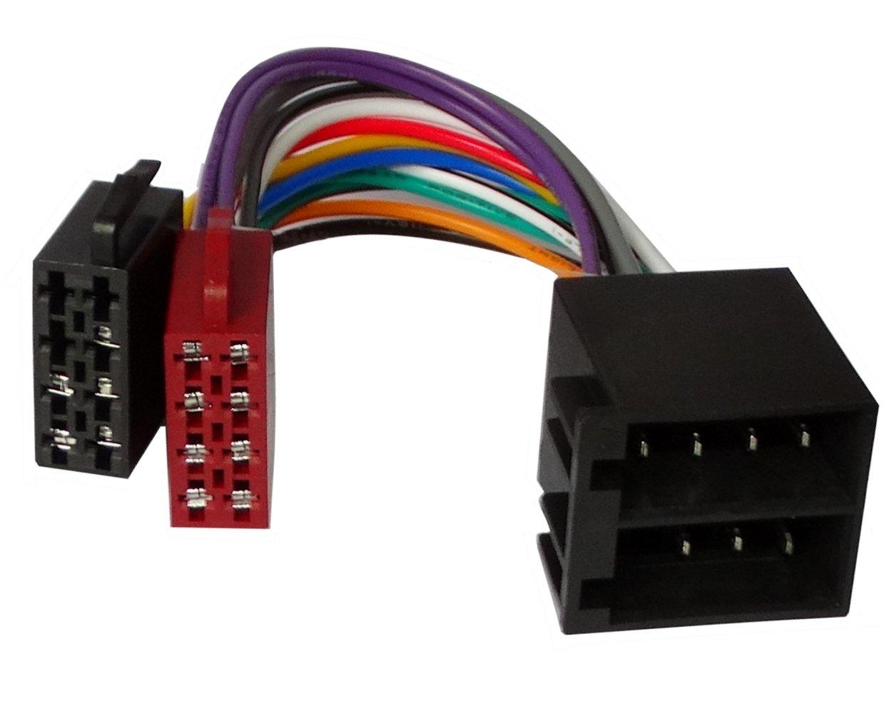 AERZETIX: Cable extension 20cm conector ISO 13PIN 8+5 macho hembra universal para autoradio altavoces de coche, vehiculos SK2-C11031-N17