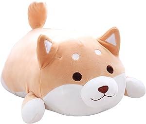 elfishgo Corgi Dog Plush Toys Creative Corgi Dog Butt Shaped Plush Soft Pillows 36cm (Brown)