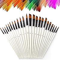24 Piezas de Acrílico de Nylon, Cepillos de Pintura, Pincel para Pintar a Granel para el Color del Agua, Acrílico…