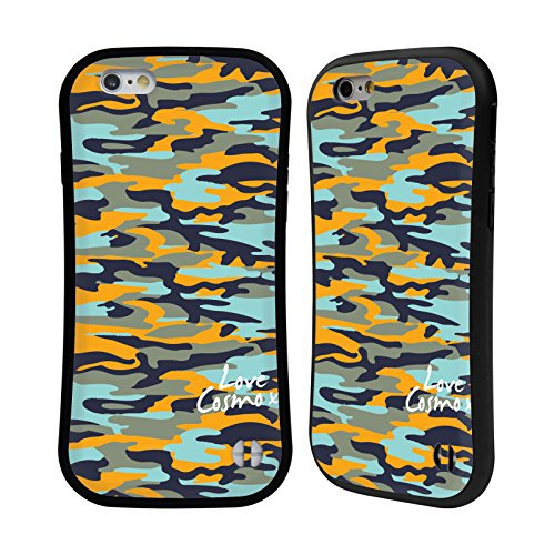 Official Cosmopolitan Orange Sky Camo Hybrid Case for Apple iPhone 6 / 6s