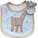 Cute Cartoon Pattern 3 Layer Toddler Baby Waterproof Saliva Towel Baby Bibs (Giraffe Pattern 2)