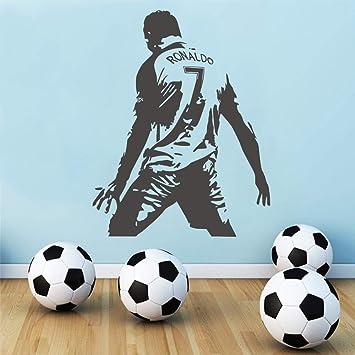 Wandtattoo Kinderzimmer Fussball Spieler Cristiano Ronaldo Wand Kinderzimmer Jungen Kinderzimmer Dekor Fussball Aufkleber Amazon De Baumarkt