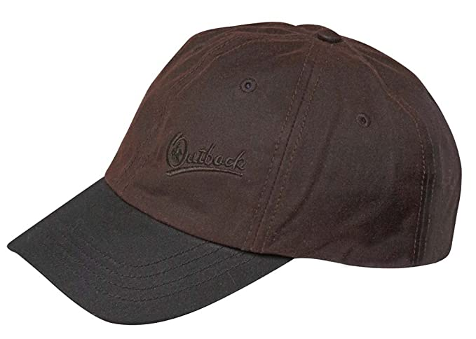 Outback Trading Co Men s Co. Oilskin Aussie Slugger Cap Brown One ... 11fbedf4931