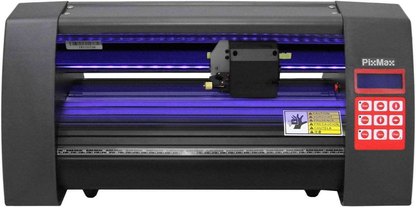 Plotter de Corte de Vinilo Luz Guía LED de 360mm con Software SignCut Pro Máquina de Fabricación de Etiquetas de Signos con Ojo Óptico Guía láser, Soporte y Cubierta Protectora: Amazon.es: Electrónica