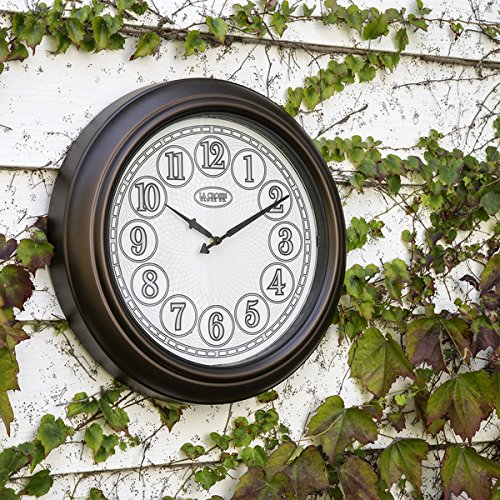 Cheap La Crosse Clock 404-3246BR 18 In Indoor/Outdoor Analog Lighted Dial Wall Clock in Antique Bronze finish