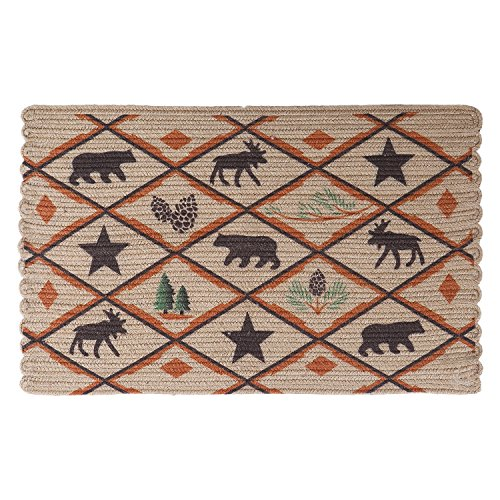 LOCHAS Braided Area Rug Hand Woven Reversible Solid Jute Carpet For Living Room Bedroom Kitchen Bathroom Rugs, 1.5' x 2.4' (Pottery Clearance Rugs Barn Bath)