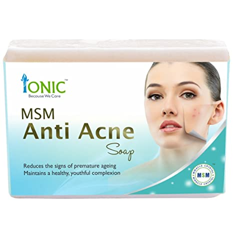 Buy Ionic MSM Anti Acne Face & Pimple Free Essence Soap Bar (Organic