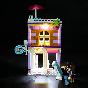 BRIKSMAX Led Lighting Kit for Friends Emma's Art Studio - Compatible with Lego 41365 Building Blocks Model- Not Include The Lego Set