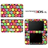 Candy Clover Strawberry Fruit Pattern Decorative Video Game Decal Cover Skin Protector for Nintendo 3DS XL