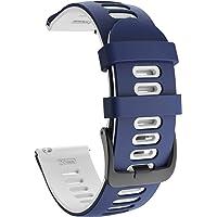 ISABAKE 20mm Zachte Siliconen Garmin Horlogeband voor Galaxy Horloge 42mm/Garmin Vivoactive 3/Samsung Galaxy Active 2…