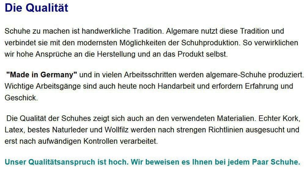 Algemare Algemare Algemare Herrenclog Cord Sani-pur Wechselfußbett Herstellung in Deutschland 7935_4418 Hausschuh Pantoffel, Größe 44  cc5c33