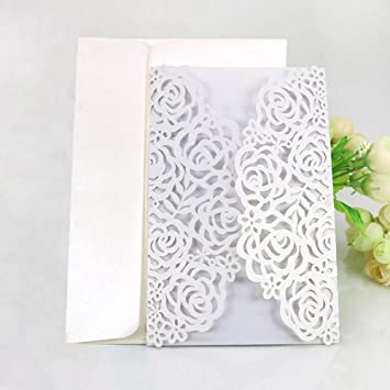 amazon com womhope 50 pcs large rose hollow laser cut wedding