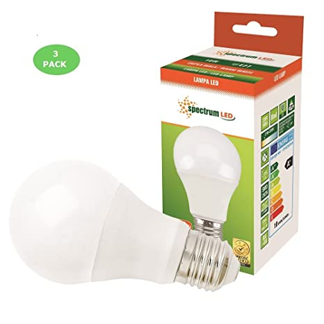 Paquete de 3 bombillas LED estándar de 10 W (equivalente a bombilla ...