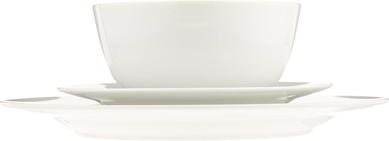 f/ür 6 Personen /& Essbesteck-Set mit Gewellter Rand f/ür 4 Personen 20-teiliges Set Edelstahl Basics Geschirrservice 18-teilig