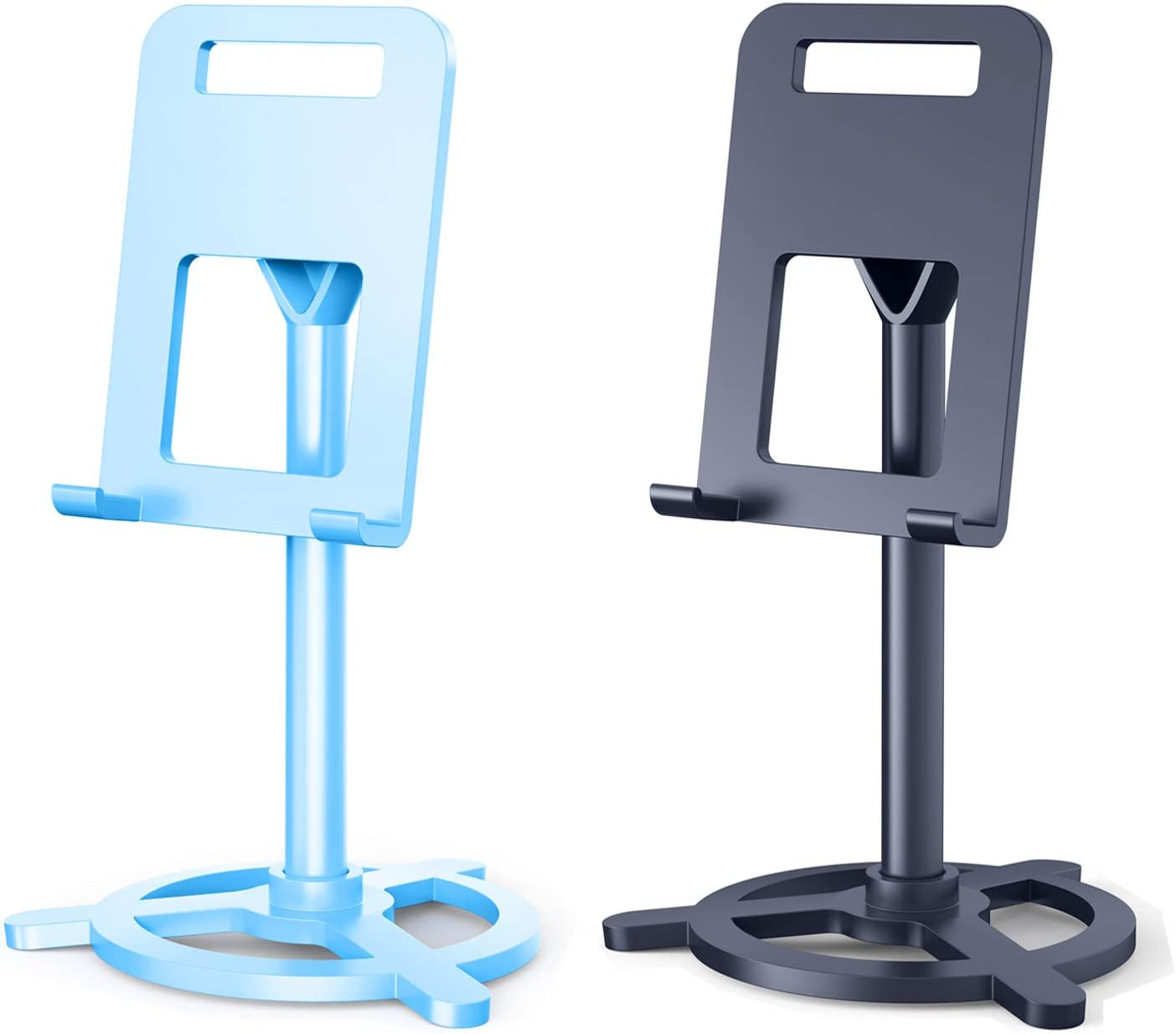 2 Pack Cell Phone Stand,Angle Adjustable Desk Cell Phone Holder,Stand is Suitable for Home/Office Desktop,Compatible with Mobile Phones,iPhone,iPad,Tablet(4-10in)