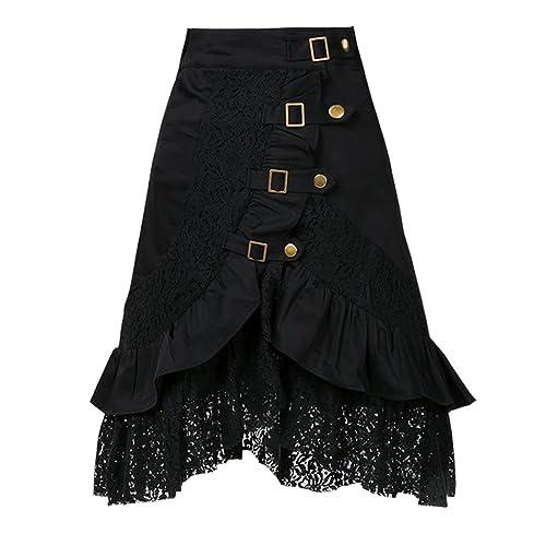 dressation para mujer Punk gótico negro fiesta gitana Falda