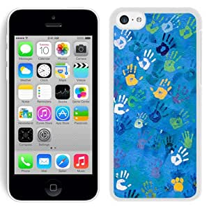 New Beautiful Custom Designed Cover Case For iPhone 5C With Handprint Art (2) Phone Case