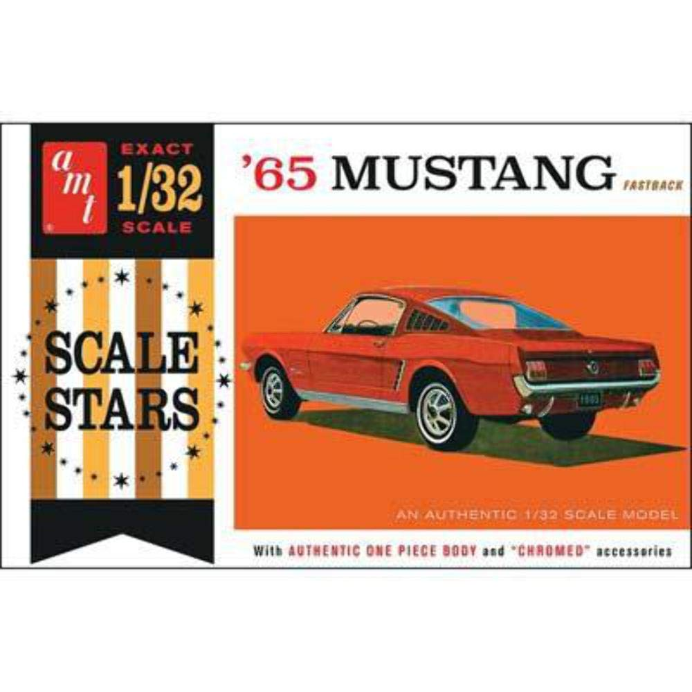 Amt amt1042 132 1965 ford mustang fastback scale