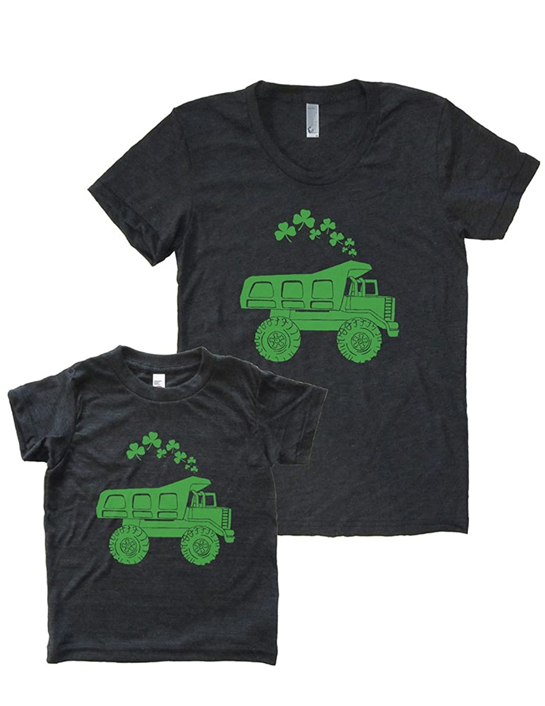 St. Patrick's Day Matching Shirt Set Dump Truck Mother Daughter T-shirts