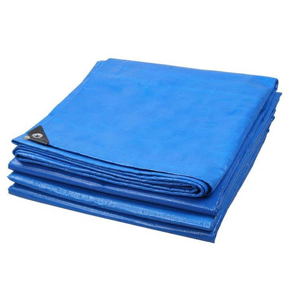 19-yiruculture 屋外テントターポリン厚い防雨日焼け止めターポリン三輪車日除けテント布折りたたみ抗酸化 (Color : Blue+Orange, サイズ : 8x15m) 8x15m Blue+Orange B07R9YXK4H