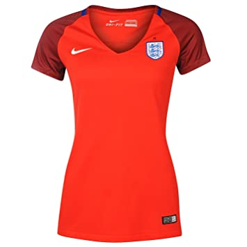 Nike England Away Jersey 2016 Womens Challenge Red Football Soccer Shirt  Top UK 12 (Medium 8b4ea4bf74