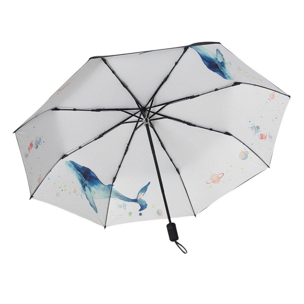 Guoke Umbrellas Uv Protection Sunscreen Uv Protection Umbrella Fold Fine Rain, Two Whales - The
