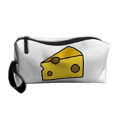 Cheese Cosmetic Bags Brush Pouch Makeup Bag Zipper Wallet Hangbag Pen Organizer Carry Case Wristlet Holder 50%OFF