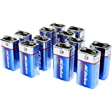 ACDelco 9 Volt Batteries, Super Alkaline Battery, 12 Count Pack