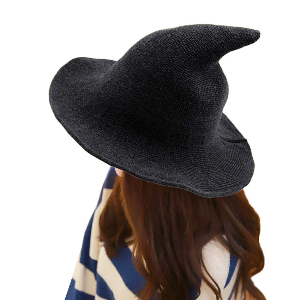 9326fbf01 MIOIM Women Girls Modern Witch Hat Halloween Witch Hat Wide-Brimmed ...