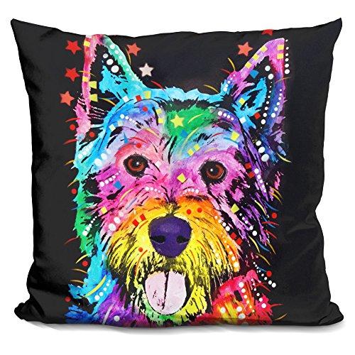 LiLiPi West Highland Terrier Decorative Accent Throw Pillow