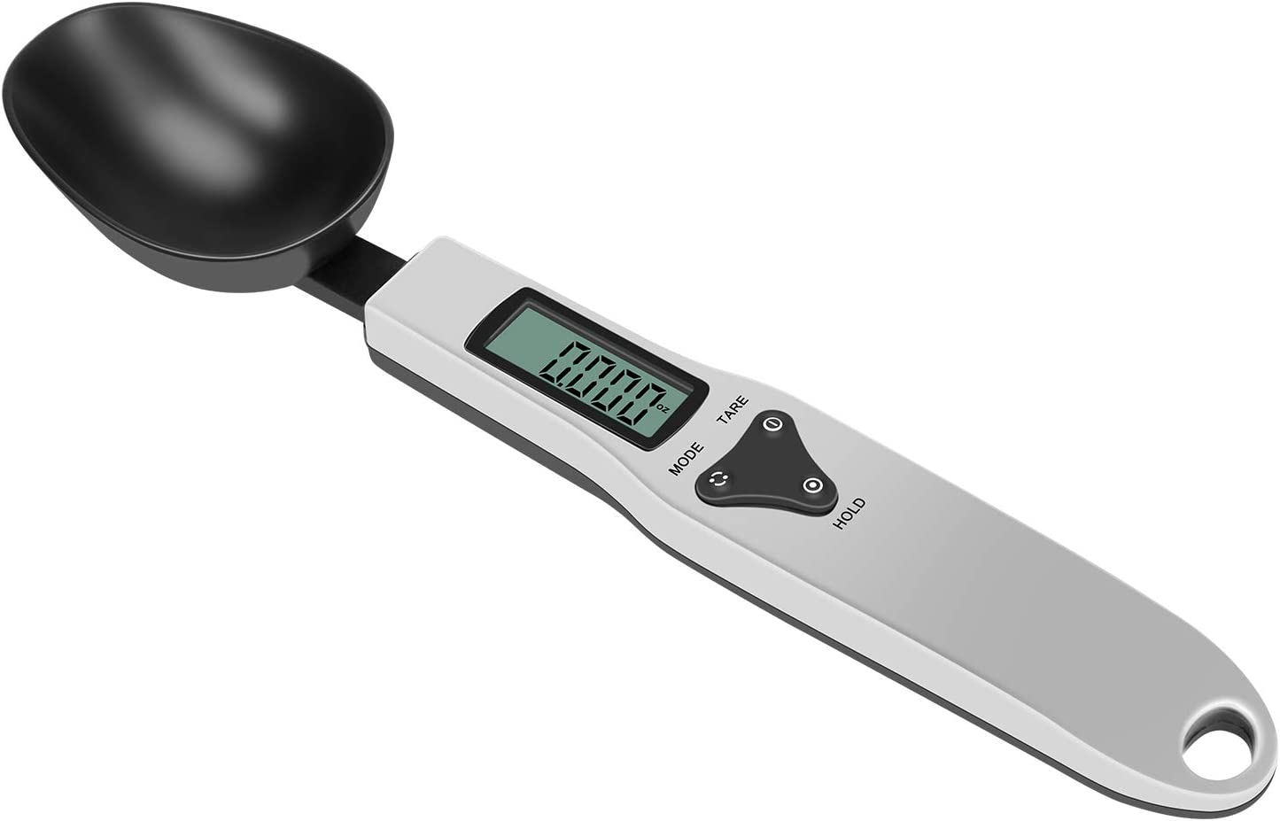 Kitchen Measuring Spoons Electronic Weighted Spoon, Food Scales digital weight grams and oz Stainless Steel Scale Gram, Measuring Scoops 500g/0.1g Baking Spoon Scale with LCD Display