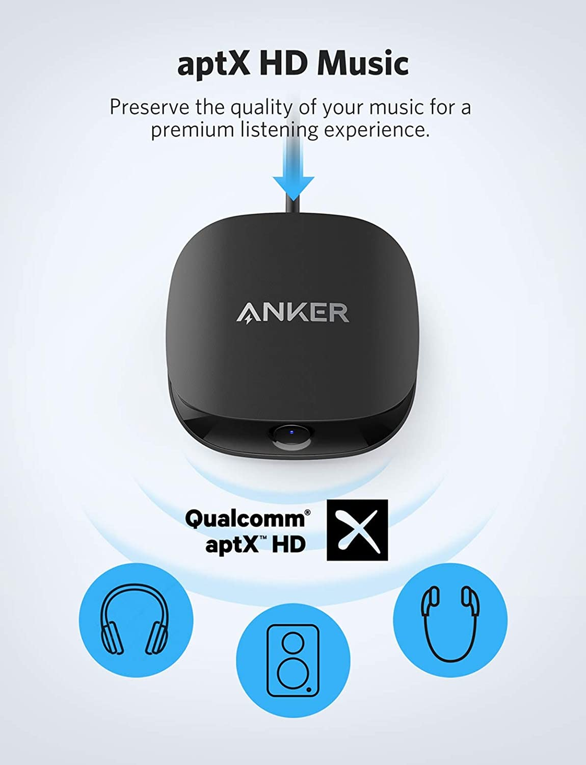 and AUX//RCA//Optical Connection for TV and Home Stereo System HD Audio with Lag-Free Synchronization with Bluetooth 5 Anker Soundsync A3341 Bluetooth 2-in-1 Transmitter and Receiver