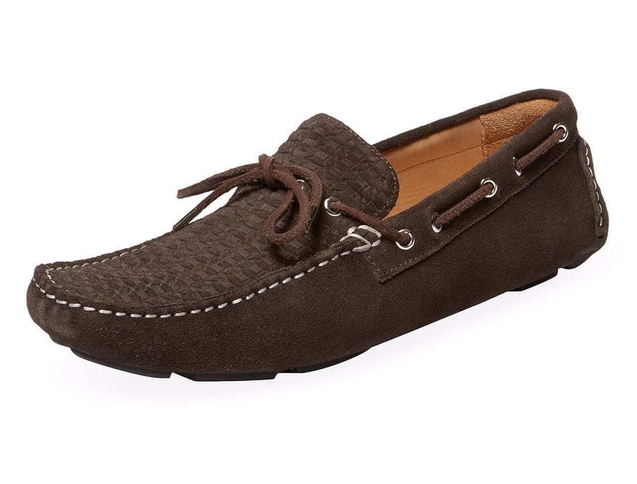 de7721f8cf Amazon.com   Millburn Co. Suede Chocolate Tie Drivers Men Size 9 ...