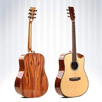 North King Guitarra de Madera Maciza Hecha de Picea Pulgadas Tipo d una Clase Chapa de Pino Solo Tablero Instrumento para Principiantes para Practicar: ...