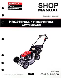 Honda HRC216 HDA HXA K3 Commercial Lawn Mower Service Repair Shop Manual