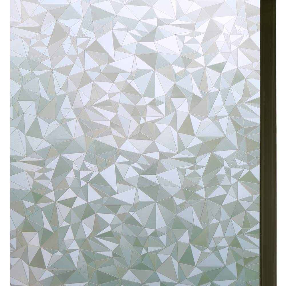 "Bloss 3D No Glue Stati Cling Window Films Privacy Cut Glass Sticker for Bathroom Office Kitchen Window Decor 17.7""x 78.7"""