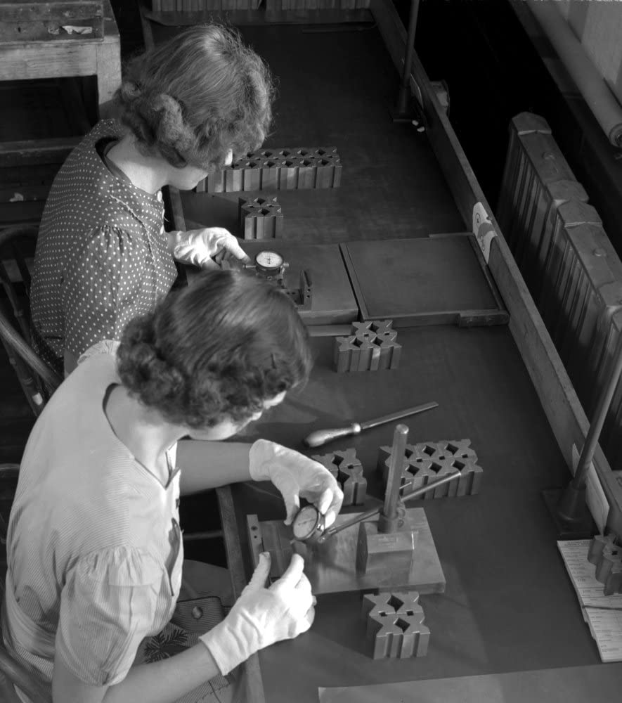 Boston Factory 1942 Nwomen Working In A Gillette Factory Converted To War Production Work In Boston Massachusetts Photograph By Howard R Hollem 1942 Poster Print by (24 x 36)