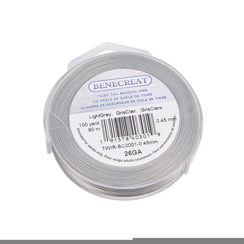 Amazon.com: BENECREAT 300-Feet Tiger Tail Beading Wire 7-Strand Bead Stringing Wire (0.45mm/.0117inch)