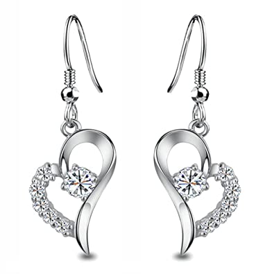 Elements Silver Women's 925 Sterling Silver Clear Cubic Zirconia Teardrop Hook Earrings vPa71P370