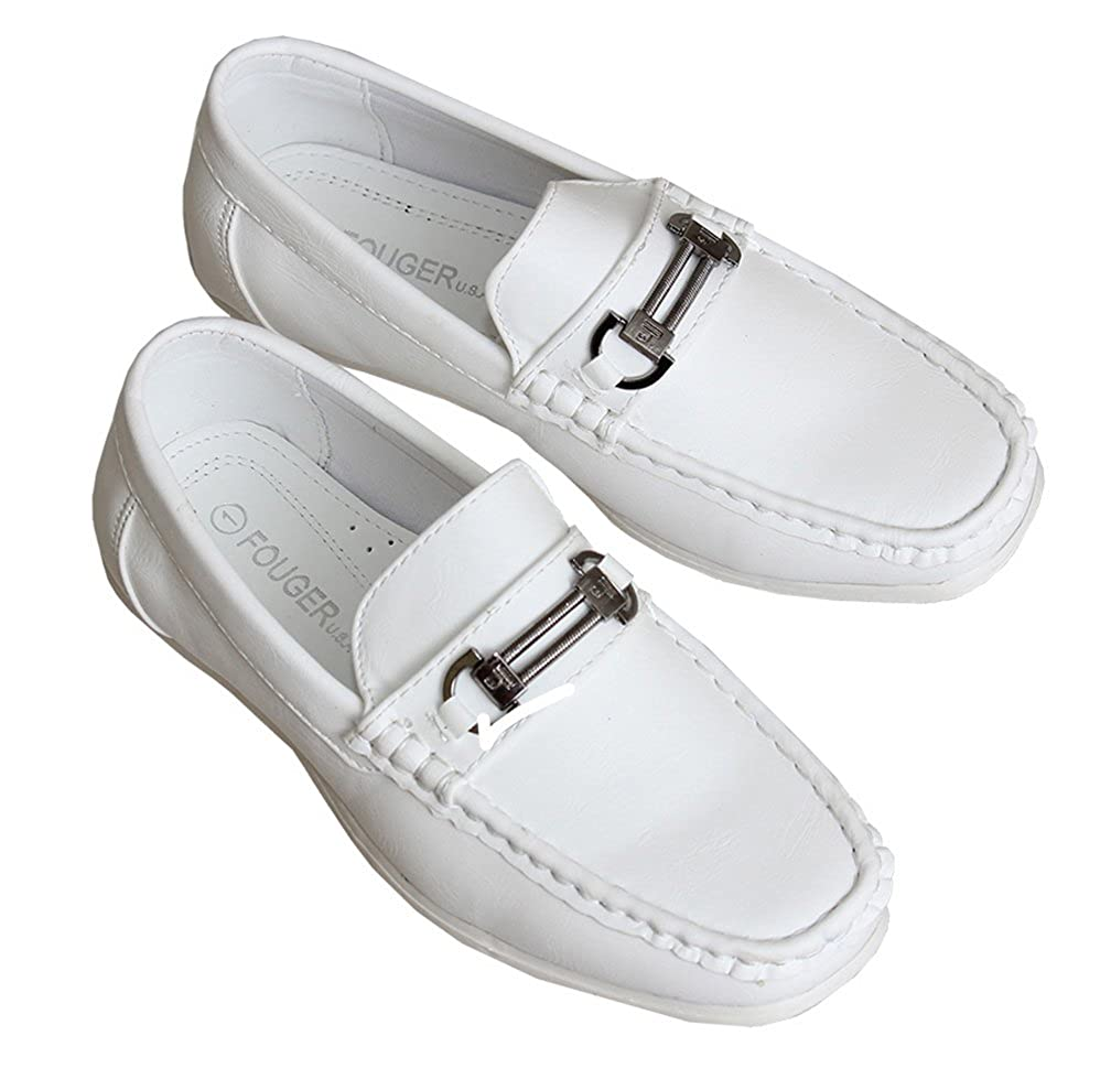 2c7be0b0a8c66 Toddlers/Boys White Loafers, Slip on Dress Shoes for Kids