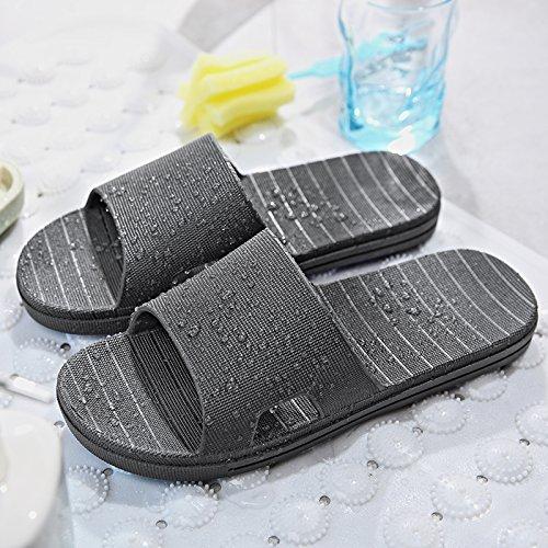 de masculinos fugas 35 verano de zapatillas planas cool zapatillas negro baño minimalista femeninos interiores plástico casa nbsp;Las Fankou 36 par de antideslizante de agua y un baño quedarme Eq7IOwW4