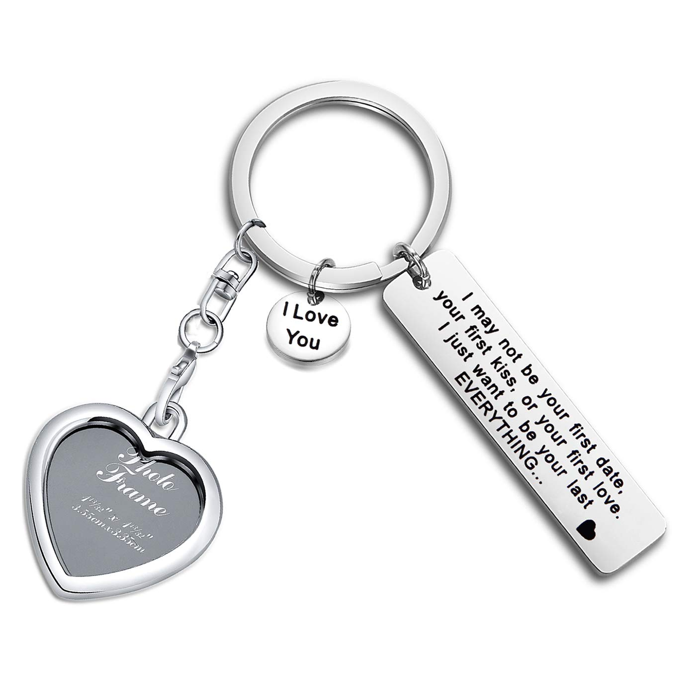 Amazon com: FEELMEM I May Not Be Your First Date Keychain