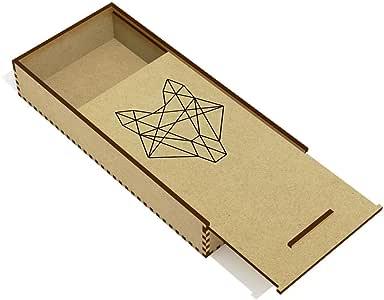 Azeeda Lobo Geométrico Estuche de lápices de Madera (PC00013293): Amazon.es: Juguetes y juegos