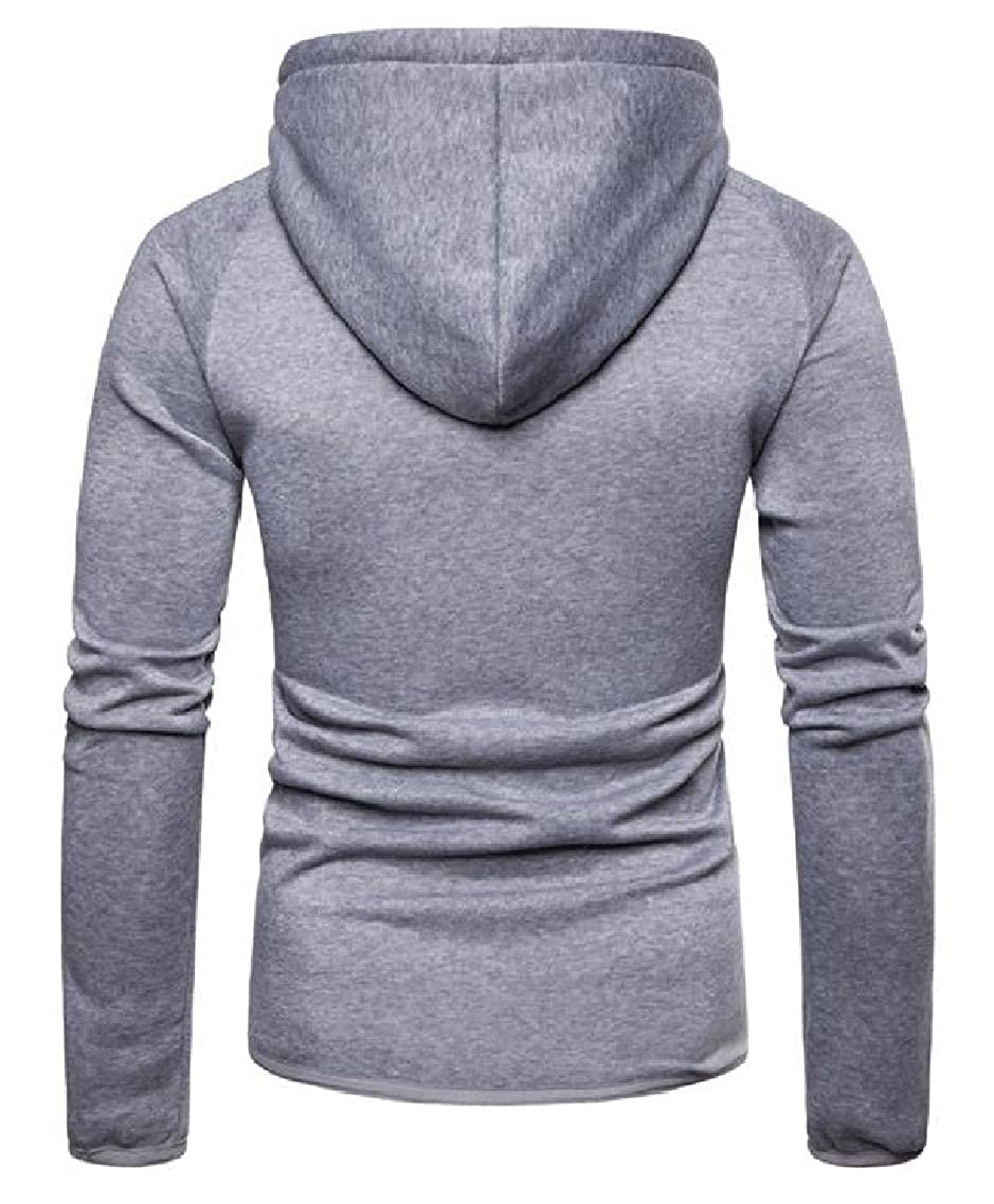 Godeyes Mens Jersey Spring//Fall Full-Zip Fitted Hood Long-Sleeve Sweatshirts