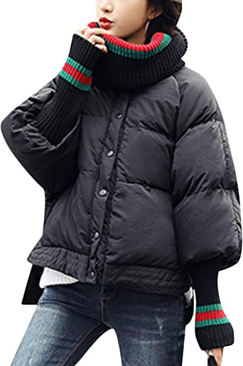 Springrain Womens Warm Fur Hood Long Jacket Casual Windbreaker Overcoat
